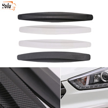 YOLU 4Pcs/Set Car Door Edge Guards Anti-Collision Sticker Bar Crash-Proof Anti-Scratch Protector Black White