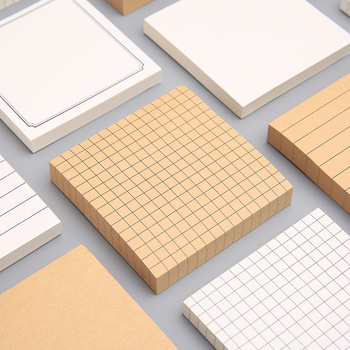 Sticky stationery notepad Post it Office bookmark notes Khaki/white/kawaii design Stickers in notebook Memo pad School supplies 1pcs kawaii planets creative memo pad sticky notes memo notebook stationery post note paper stickers office school supplies