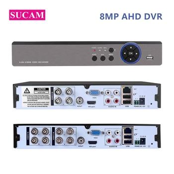 8MP AHD DVR Digital Video Recorder 4Channel 8Channel DVR Hybrid 5MP 4K NVR for 5MP 8MP AHD/TVI/CVI/CVBS/IP Cameras Support XMEye oem 10pcs 1ch mini ahd xbox dvr pcb board 30fps security digital video recorder support 128gb sd card