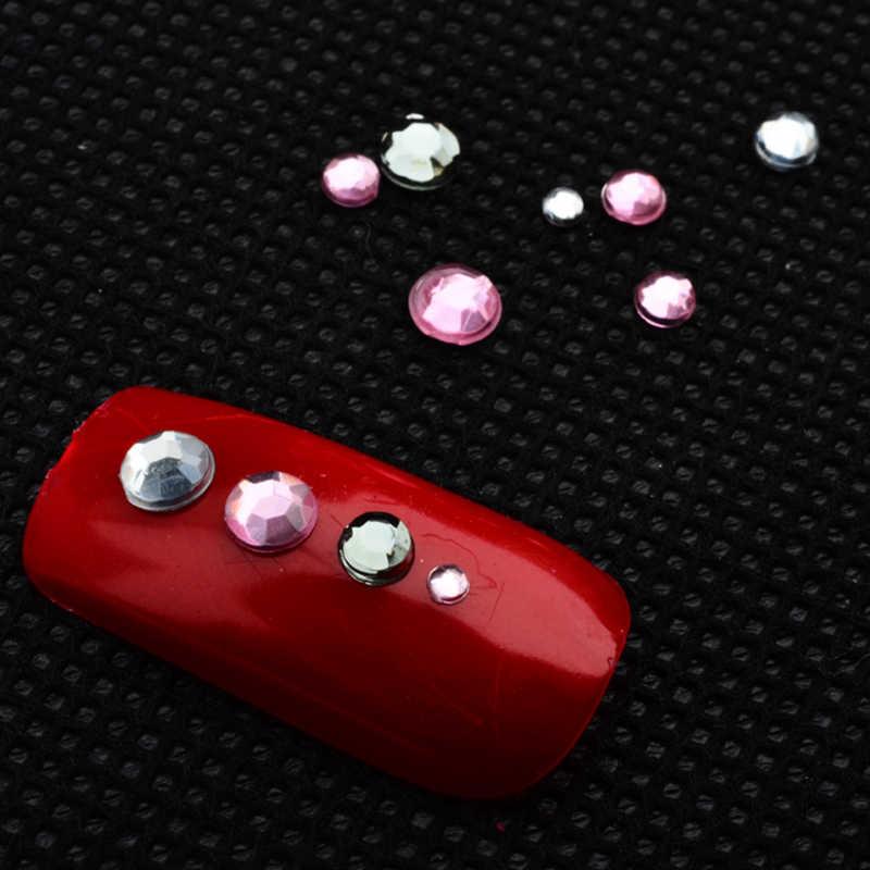 ネイルラインストーン 3D クリスタル Ab クリアネイルストーン宝石真珠ネイルアートの装飾ゴールドシルバーリベットラインストーン爪 Jewelly ペースト