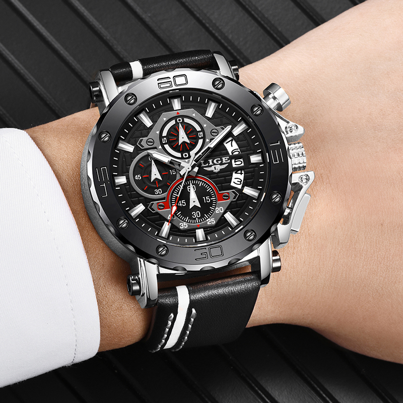 New Fashion Watch Men LIGE Top Brand Sport Mens Watches Waterproof Quartz Clock Man Casual Military WristWatch Relogio Masculino