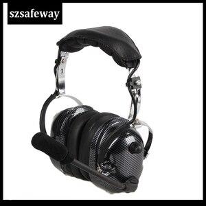Image 5 - תעופה ווקי טוקי אוזניות רעש ביטול Heaphone עבור Kenwood Baofeng UV 5R 2 סיכות שתי דרך רדיו