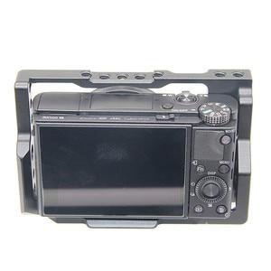 Image 3 - אלומיניום סגסוגת מצלמה כלוב מגן מקרה עבור Sony RX100 M7 VII 7 שחרור מהיר צלחת מייצב מתאם w/ 1/4 חוט חורים