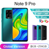 Global Version Note 9 Pro Smartphone 8GB 256GB Smart Phone Adnroid 10.0 Cellphones Faca ID 4G 5G Mobile Phones