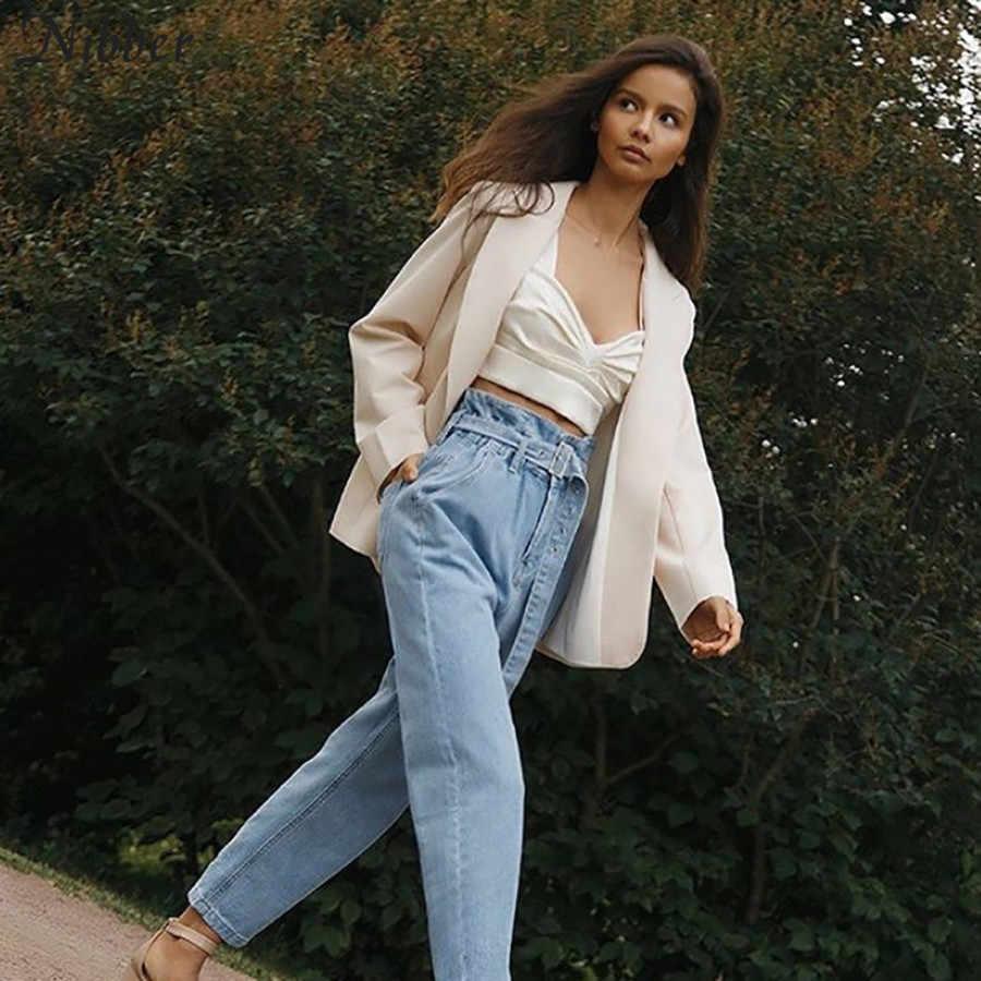 Nibber الخريف البرية الشيفون الأبيض المحاصيل قمم النساء camisole2019 الأزياء الشارع عارضة أكمام المحملة قمصان أنيقة خزان أعلى موهير
