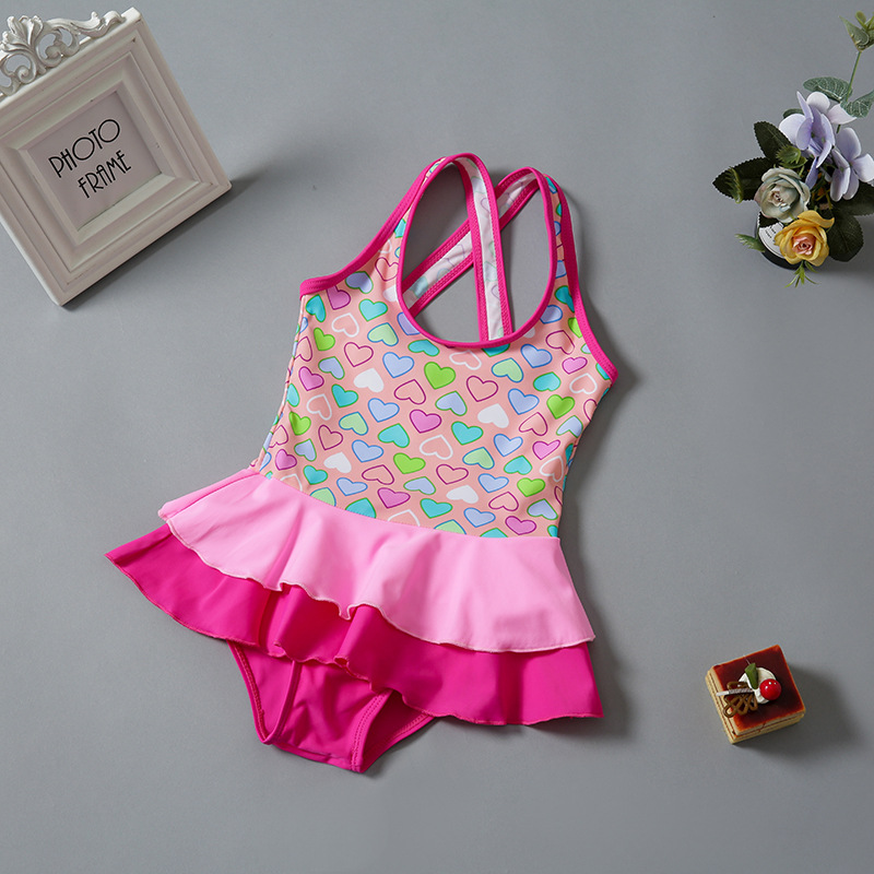 Korean-style CHILDREN'S Swimwear Girls Cute Princess Large Size Children GIRL'S Han Bao Bathing Suit One-piece Swimwear