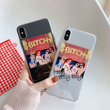 Funny Cute Girl Painting Phone Case For iphone