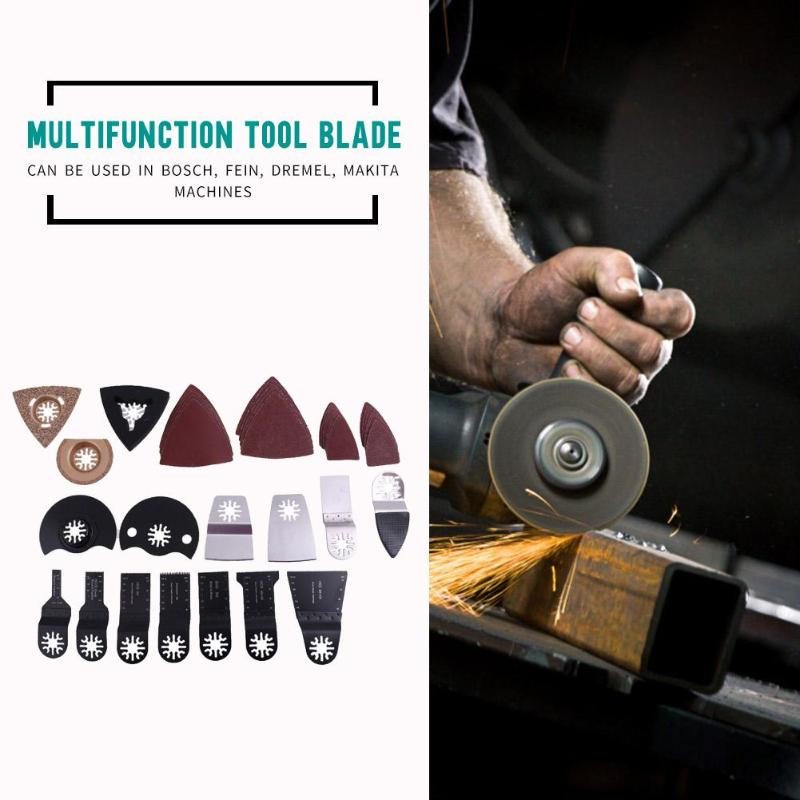 66pcs Multi-functional Woodworking Grinding Accessories Wood Cutting Tool Renovator Power Tools Multimaster Oscillating Tool