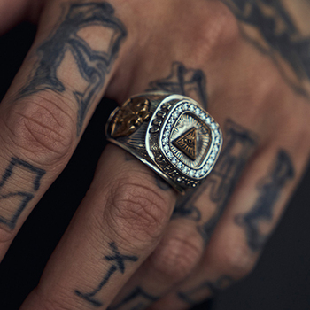 Ruibeila fashion genuine 925 silver God eye ring men cubic Zircon charm Hip Hop male jewelry gift