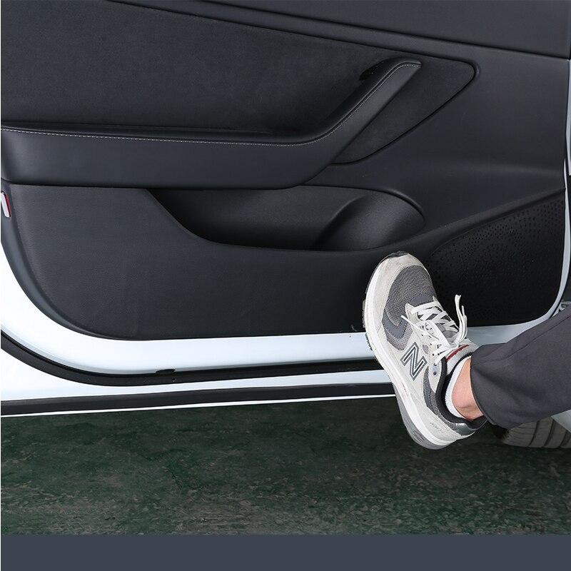Tapis de porte en cuir pour Tesla modèle 3 accessoires/accessoires de voiture modèle 3 tesla trois tesla modèle 3 model3