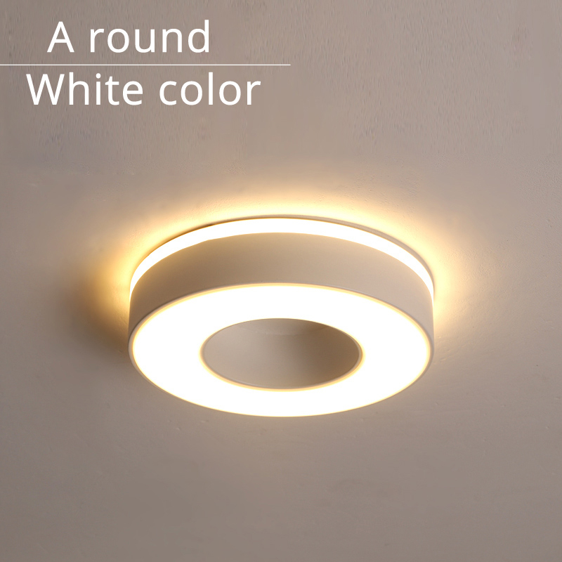 A round white