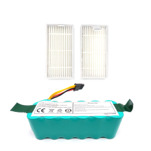 2Pcs Filters Ni-Mh 14.4V 3500Mah Battery for Ecovacs Mirror Cr120 Vacuum Cleaner Dibea X500 X580 X600