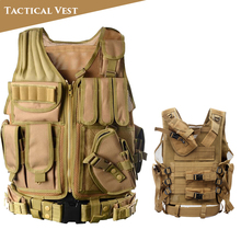 Tactical Vest Military Army CS Wargame Paintball Airsoft Vest Body Armor Outdoor Men Hunting Vest tactical vest hunting equipment airsoft vest army military gear outdoor paintball police molle vest for cs wargame 6 colors