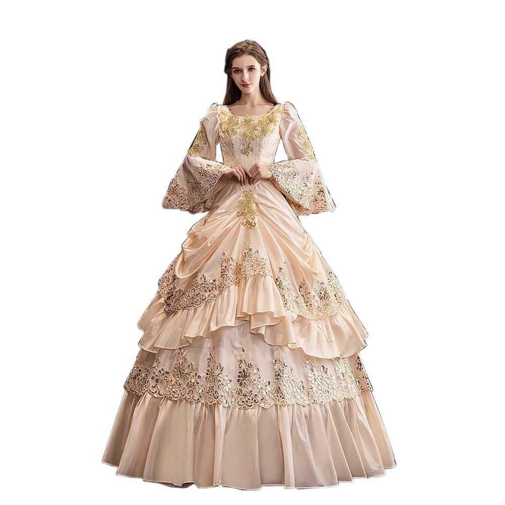 Rococó barroco, vestidos de baile de María Antonieta, vestido victoriano del siglo XVIII renacentista, para las mujeres