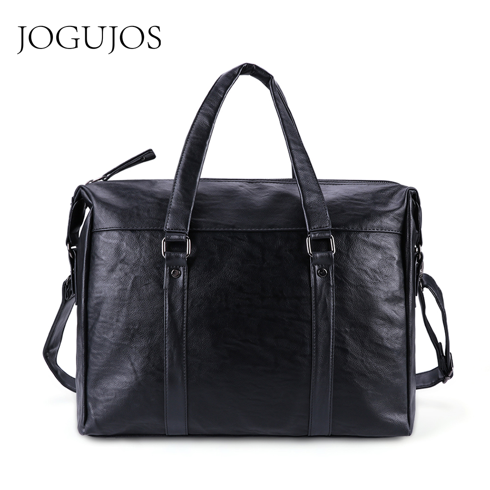 JOGUJOS Business Briefcase Men Shoulder Messenger Bag New PU Leather Men Briefcases Travel Crossbody Bag For Women Men Handbags
