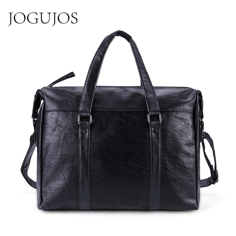 JOGUJOS Business Briefcase Men Shoulder Messenger Bag New PU Leather Men Briefcases Travel Crossbody Bag For Women Men Handbags