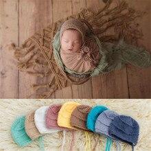 Ylsteed вязаная крючком шапка для новорожденного, фото костюм для съемок, реквизит для фотосессии, аксессуары для фотографирования новорожденных