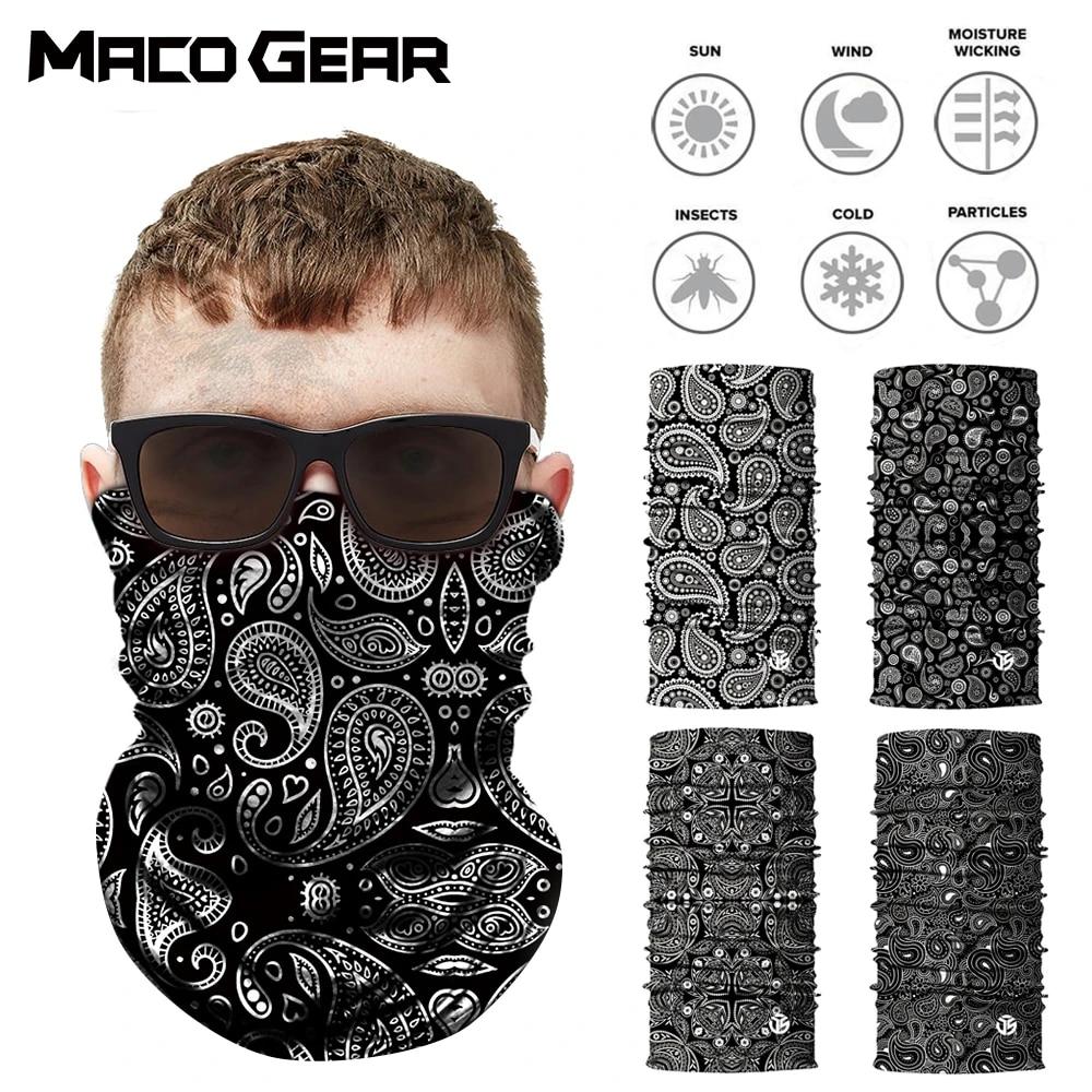 Motorcycle Motorbike Balaclava Bandana Face Cover Neck Tube Warmer Scarf Sportss