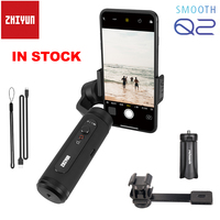 Zhiyun Smooth Q2 3 Axis Smartphone Handheld Gimbal Small Pocket Size 1 Sec Quick Release for iPhone 11 Pro Max XS XR X & S10 S9