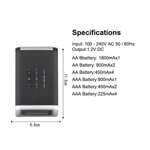 Image 2 - PUJIMAX LCD 002 LCD Display With 4 Slots Smart Intelligent Battery Charger For AA/AAA NiCd NiMh Rechargeable Batteries