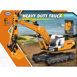 Image 4 - O offroad técnica xingbao novo 03038 construção escavadeira veículo conjunto blocos de construção tijolos brinquedos meninos figura presentes natal