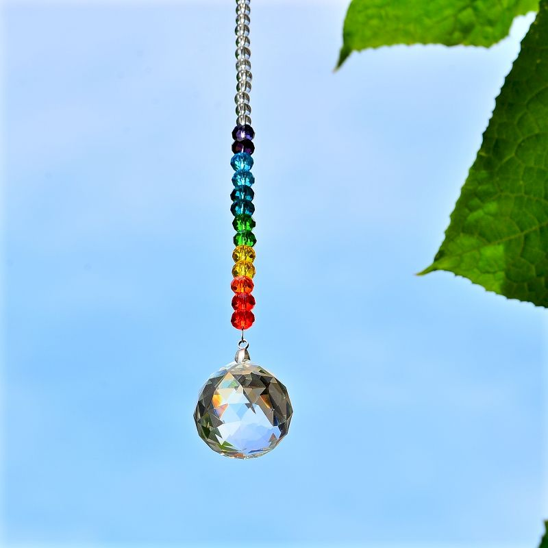 Handmade Suncatcher Metal Dragonfly Crystal Prisms Rainbow Maker Pendant Window Hanging Ornament for Garden Home Decor