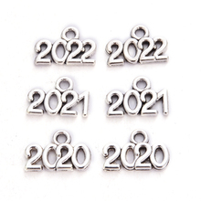 10 Fashion Years Pendant 2020/2021/2022 Antique Silver Pendant Jewelry Accessories DIY Production Years Pendant 13 * 10mm