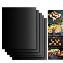 Placa de cozimento reutilizável 40*30cm da almofada da antiaderente do cozimento exterior do churrasco da esteira da grade do bbq para a festa de primavera ptfe acessórios da esteira da grade