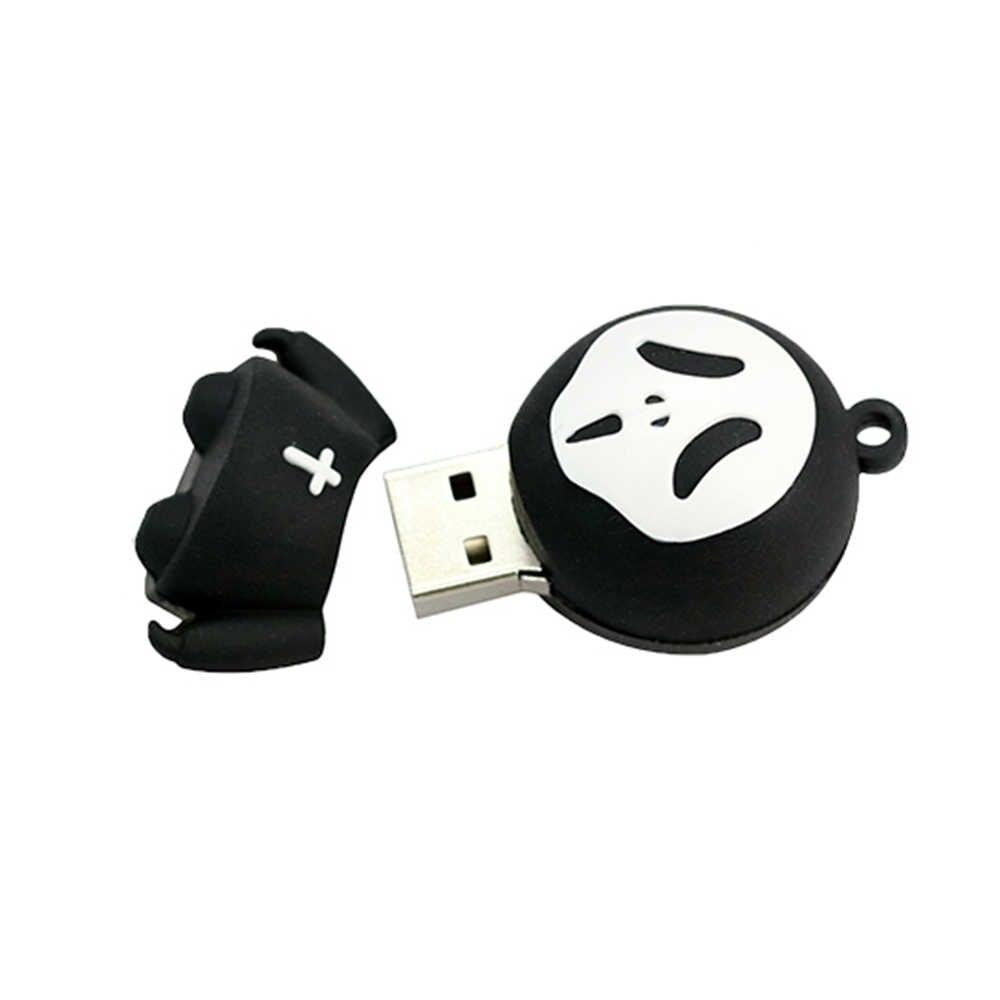גולגולת/שד/ghost/Grim Reaper דיסק און קי 32GB 64GB 4GB 16 8 256 gb Pendrive מיני זיכרון מקל USB2.0 אמיתי קיבולת cle usb מתנה