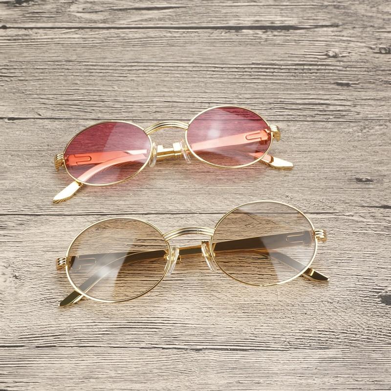 Di lusso Oro Occhiali Da Sole Da Uomo Accessori In Acciaio Inox Telaio Occhiali Da Vista Occhiali per Club di Guida Occhiali Chiari Oculos Occhiali - 2