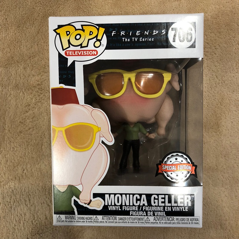 Exclusive FUNKO POP Official TV: Friends - Monica With Thanksgiving Turkey Vinyl Action Figure Collectible Model Toy In Stock