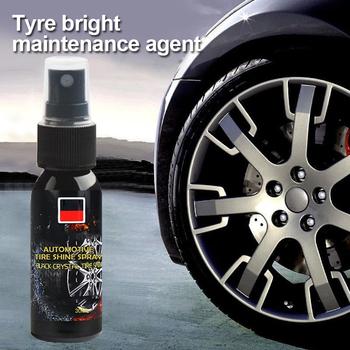 Akcesoria samochodowe 30 lm koło automatyczne czyszczenie opona środek czyszczący opona polski Cleaner czyszczenie samochodu piękno samochodu woskowanie gąbka TSLM1 tanie i dobre opinie JOSHNESE circular