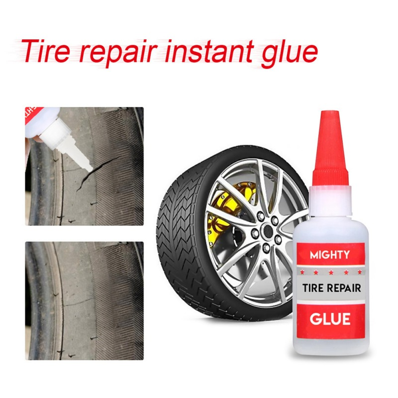 50mlMighty Tire Repair Glue Tyre Puncture Sealant Glue Bike Car Tire Repair Patch For Metal Plastic Wood Ceramic Repair Weldin,1