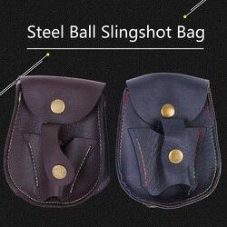 25 uds. Eslinga de bolas de acero profesional Paquete de resortera deportiva al aire libre bolsa de caza de tiro