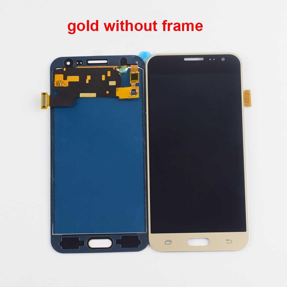 شاشات LCD لسامسونج غالاكسي J3 2016 LCD تعمل باللمس J320 J320M J320F J320FN J320H LCD شاشة عرض تعمل باللمس الجمعية الإطار