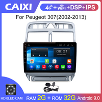 2 din Android 9.0 Car multimedia Player GPS Navigation Multimedia For peugeot 307 307CC 307SW Radio 2002 2013 car radio stereo