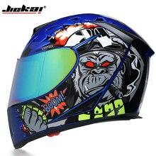 Полнолицевой мотоциклетный шлем моющаяся подкладка с двойным объективом стильный быстросъемный гоночный шлем Casco мотоциклетный шлем одобренный