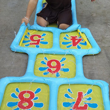 Inflatable Toy Number Accessories Game Mat Pool Outdoor Summer Hopscotch Courtyard Water Sprinkler Fun Children Splash Playing