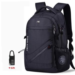 Image 1 - Mochila Schweizer männer anti diebstahl Rucksack USB Notebook Schule Reisetaschen wasserdichte Business 15,6 17 zoll laptop rucksack frauen