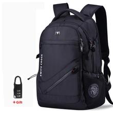 mochila Swiss Men's anti theft Backpack USB Notebook School Travel Bags waterproof Business 15.6 17 inch laptop backpack women