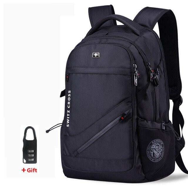 mochila Swiss Mens anti theft Backpack USB Notebook School Travel Bags waterproof Business 15.6 17 inch laptop backpack women