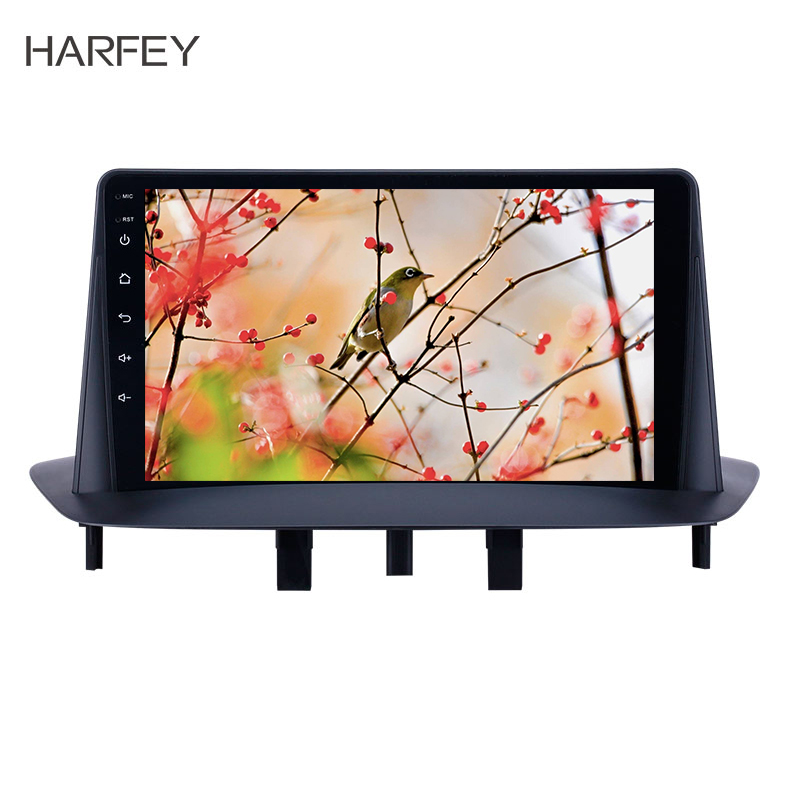 Harfey 9 inch Bluetooth <font><b>GPS</b></font> Navigation Car Radio Android 8.1 HD Touchscreen for Renault <font><b>Megane</b></font> <font><b>3</b></font> 2009-2014 support Carplay SWC image