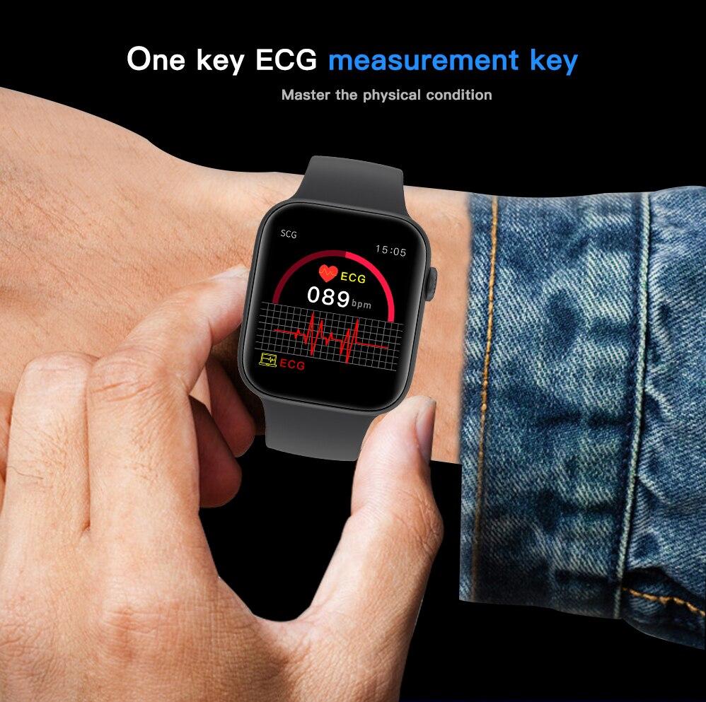 Hf5928cb7ab16442b8821a0c60cd8978dA ECG Heart Rate Monitor Smart Watch 2020 Full Touch Screen SE03