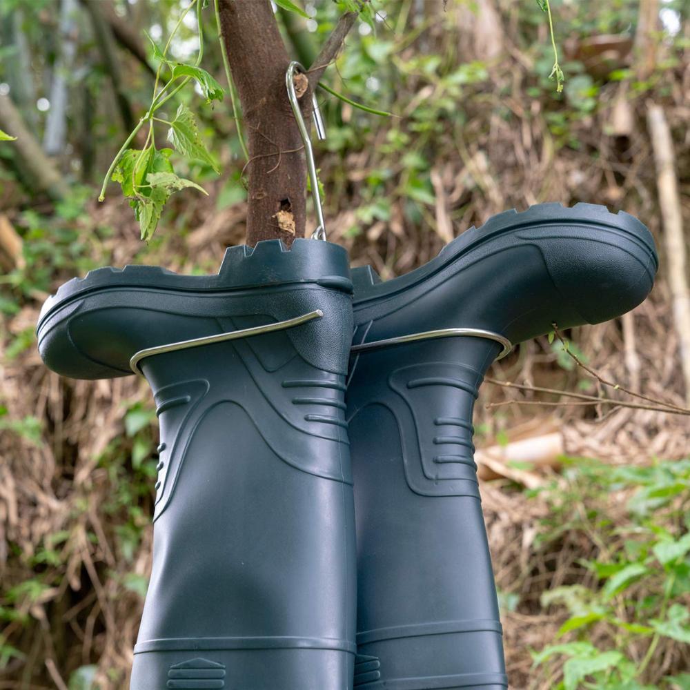 para secagem rapida aco inoxidavel botas pesca wading cabide 02