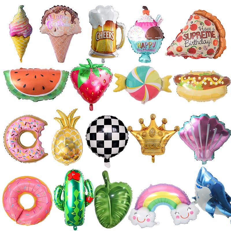 Beignet glace alimentaire forme feuille ballons fruits géant Balon été fête décor anniversaire fête décoration enfant fête ballon