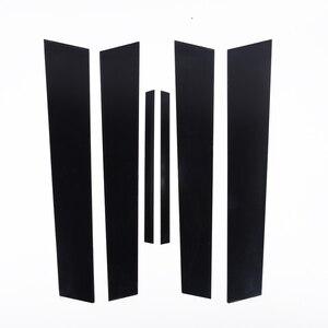 Image 5 - 6 adet araba pencere Pillar mesajları kapak Trim siyah ayna etkisi Honda Civic 2006 2011 için otomatik pencere ayağı direkleri kapak Trim