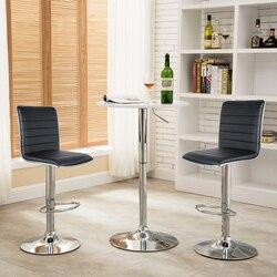 2 قطعة كراسي بار كرسي بار بدون مسند لليد المطبخ أسود اللون قطب بار الإفطار البراز قابل للتعديل أثاث المنزل الحديث الأوروبي استدارة