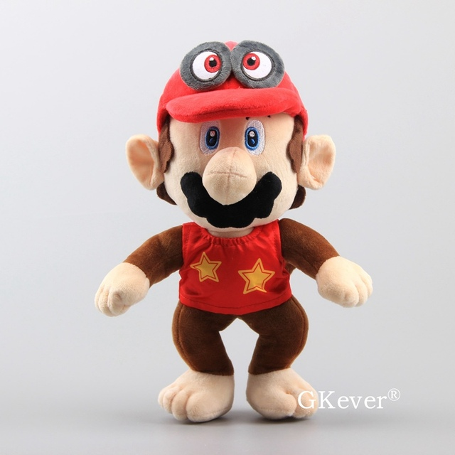 20-30cm Mario Series Plush Toys doll Mario Lugi Diddy Kong Mario Cappy Odyssey Capp figure toy Children Birthday Gift