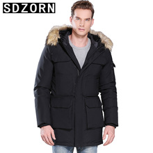 Mens Fur Hooded Jacket Plain Padded Parka Four Pocketas Warm Coat for Men 2019 New Fall Winter Bottoming  Jackets