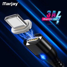 Marjay Magnetic USB Type C Cable For Samsung Galaxy S10e Plus Xiaomi Fast Charging USB-C Charger Mobile Phone USBC Type-C